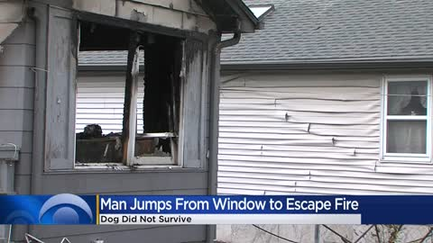Man escapes house fire by jumping out window; his dog did not...